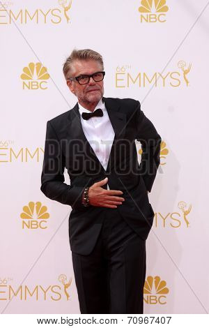 LOS ANGELES - AUG 25:  Harry Hamlin at the 2014 Primetime Emmy Awards - Arrivals at Nokia at LA Live on August 25, 2014 in Los Angeles, CA