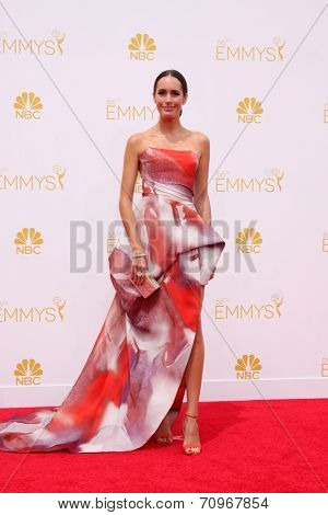 LOS ANGELES - AUG 25:  Louise Roe at the 2014 Primetime Emmy Awards - Arrivals at Nokia at LA Live on August 25, 2014 in Los Angeles, CA