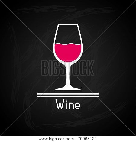 Illustration with glass of wine for menu cover.