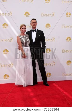 LOS ANGELES - AUG 25:  Tom Hanks at the 2014 Primetime Emmy Awards - Arrivals at Nokia at LA Live on August 25, 2014 in Los Angeles, CA