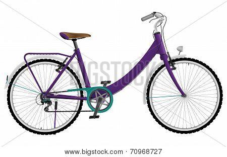 Ladies purple urban sports bike