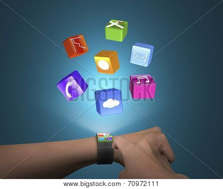Hand Touch Ultra-thin Smart Watch With Apps