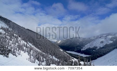 View Of Snow In The Mountains