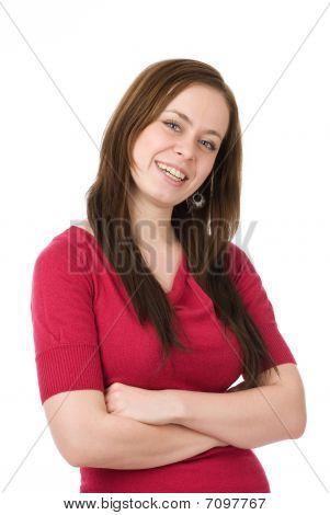 Happy Lächelnde Frau