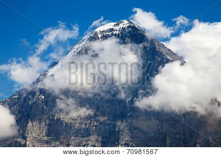 Eiger mountain in the Jungfrau region