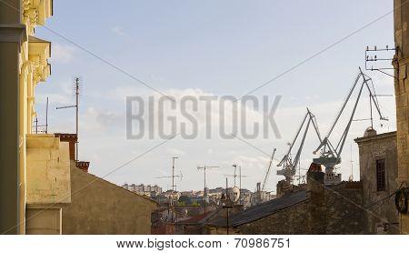 Pula Town Skyline