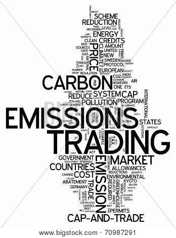 Word Cloud Emissions Trading