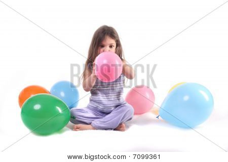 Surrounded By Balloons