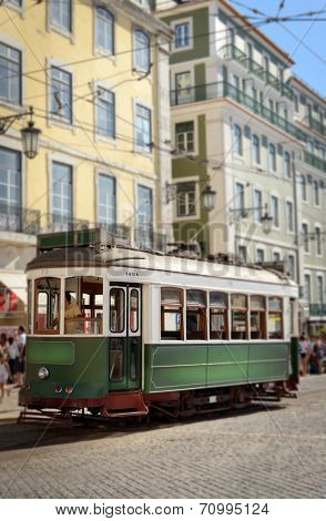 retro tramway in Lisbon