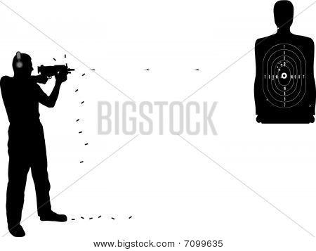 Shutting target