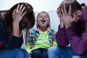 image of yell  - View of yelling boy with educational problems - JPG