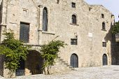 Medieval city of Rhodes island at Greece poster