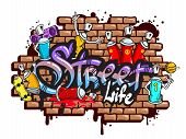 Постер, плакат: Graffiti word characters composition