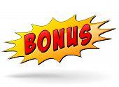 picture of starburst  - illustration of bonus starburst icon on white background - JPG