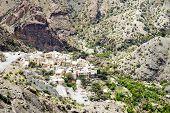 picture of jabal  - Image of village Saiq Plateau in Oman - JPG