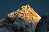 stock photo of sherpa  - Ama Dablam Peak  - JPG