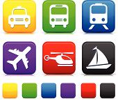 picture of transportation icons  - Transportation icon on internet buttons Original vector Illustration - JPG
