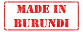 stock photo of burundi  - Made in Burundi  - JPG