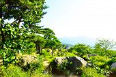 picture of long winding road  - Geumjeongsanseong Forest Fortress where there is a 18 - JPG