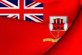 stock photo of gibraltar  - Civil Ensign of the Gibraltar - JPG