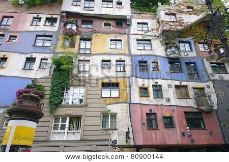 Hundertwasser color house