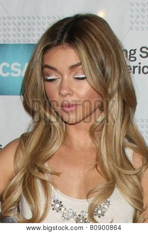 LOS ANGELES - JAN 22:  Sarah Hyland at the American Casting Society presents 30th Artios Awards at a Beverly Hilton Hotel on January 22, 2015 in Beverly Hills, CA