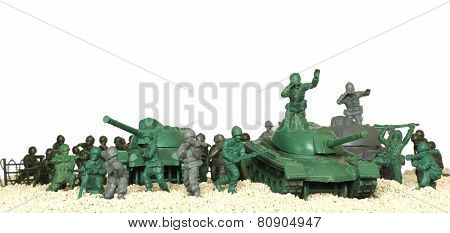 plastic toy battle tanks