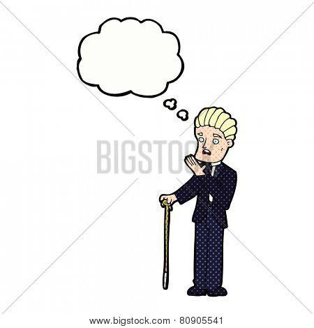 cartoon worried gentleman