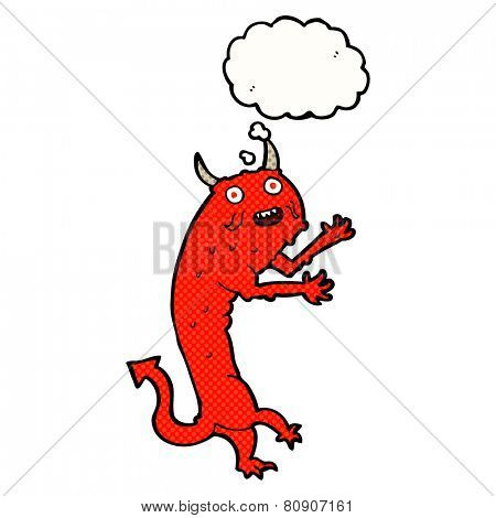 cartoon devil with thought bubble