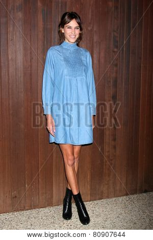LOS ANGELES - JAN 22:  Alexa Chung at the Alexa Chung For AG Los Angeles Launch Party at a Private Location on January 22, 2015 in Beverly Hills, CA