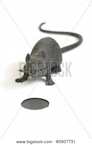 plastic toy mouse