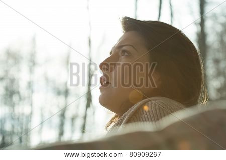 Portrait Of Young Despair Woman