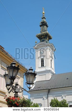 belltower of Cathedral of the Holy Great-Martyr George in Novi Sad, Serbia
