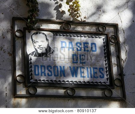 Paseo De Orson Welles In Ronda, Andalusia, Spain