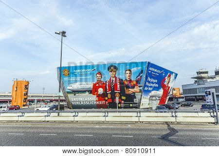 Advertising Of Aeroflot In Berlin Tegel