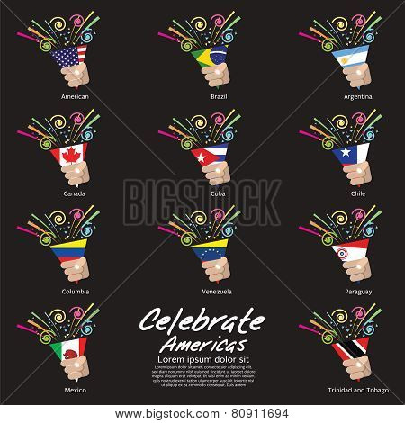 Celebrate Americas Vector Illustration.