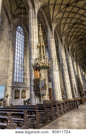 Inside St. George's Minster In Dinkelsbuehl