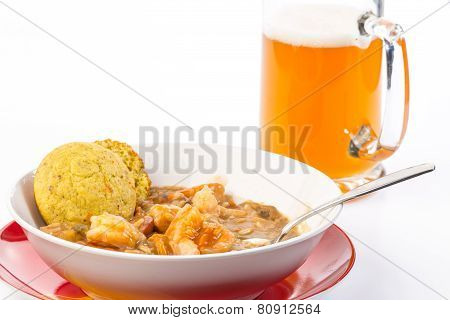 Seafood Gumbo With Beer