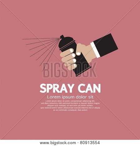 Hand Holding Spray Can EPS10
