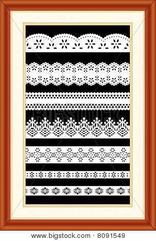 Lace Sampler in Cherry Wood Frame