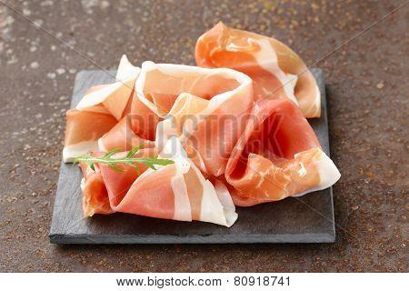 parma ham (jamon) traditional Italian meat specialties