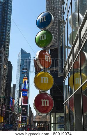 M&m Shop In Times Square