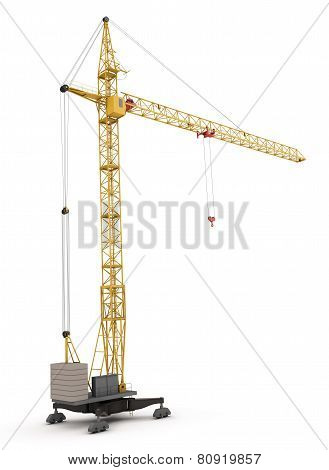 Construction Crane Isolated On White