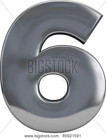 Metal Letter 6