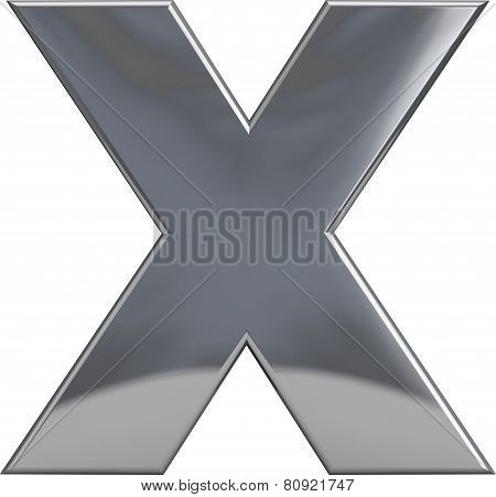Metal Letter X