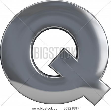 Metal Letter Q