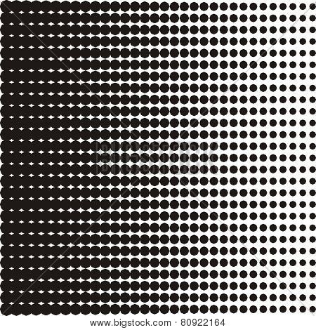 Black Halftone Texture