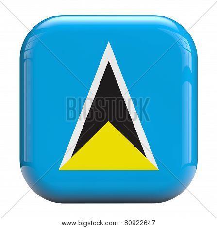 Saint Lucia Flag Icon Image