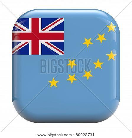 Tuvalu Flag Image Icon Isolated