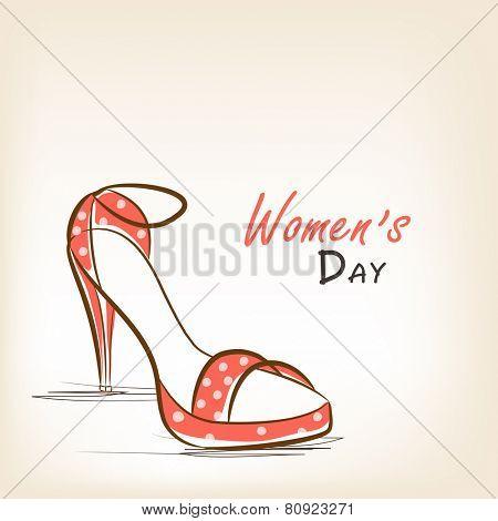 Beautiful high heeled ladies shoe for International Women's Day celebration.